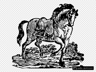 Woodcut Horse