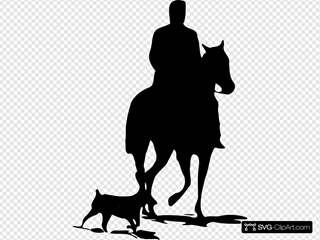 Riding The Horse Silhouette