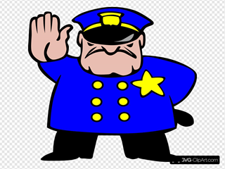Police Man SVG Cliparts