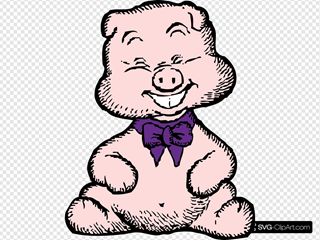 Laughing Pig 1 SVG Clipart
