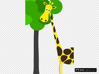 Giraffe With Tree
