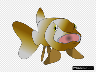 Brown Fish SVG Cliparts
