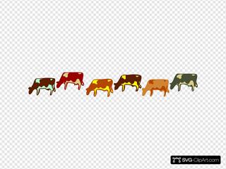 Cows SVG Clipart