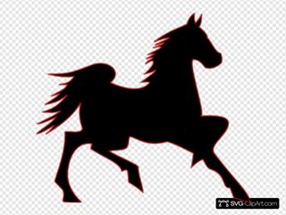 Fire Horse SVG Clipart