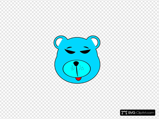 Blue Bear SVG Cliparts