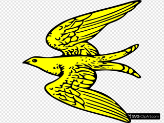 Flying Yellow Bird Clipart