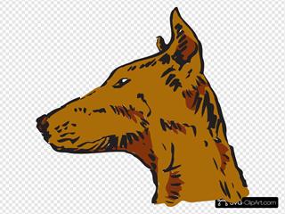 Dog Head Side View