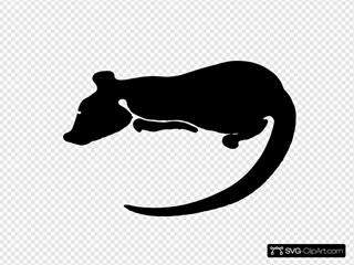 Rat Silhouette SVG icons