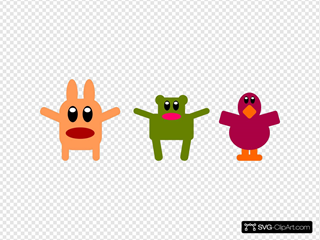 Flat Cuties Characters