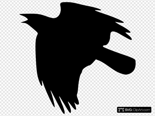 Crow Flying Up SVG Clipart