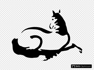 Running Horse Silhouette SVG Clipart