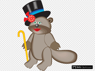 Beaver In Top Hat
