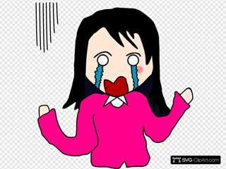 Crying Cartoon Woman
