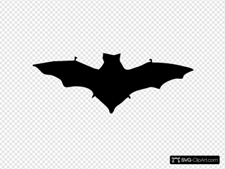Bat Silhouette SVG Clipart