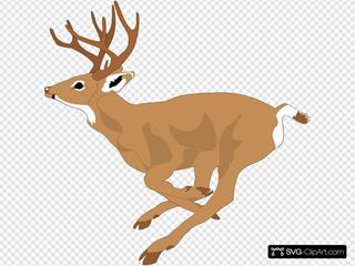 Leaping Deer Side View