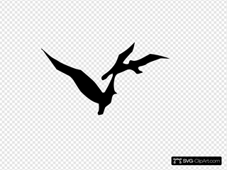 Flying Dove Silhouette SVG Clipart
