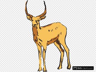 Standing Antelope Drawing