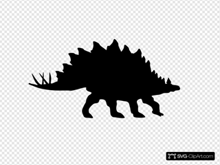 Stegosaurus Shadow SVG Clipart