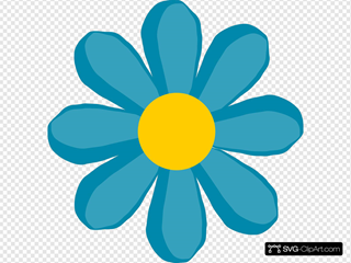 Blue Flower SVG Clipart