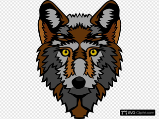 Stylized Wolf Head SVG Cliparts
