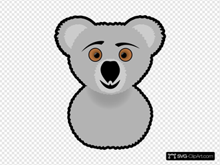 Cartoon Koala Head