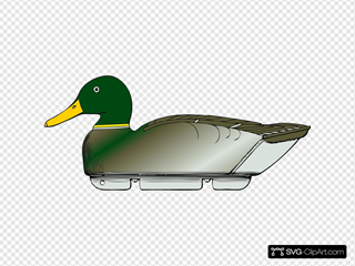 Duck Decoy Side View SVG Clipart