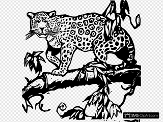 Jaguar Woodcut