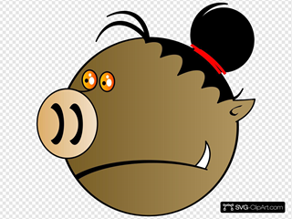 Pig Head SVG Cliparts