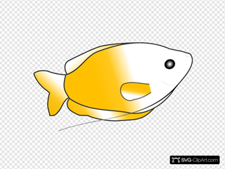 Yellow Fish SVG Clipart