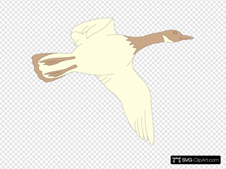 Cream And Brown Flying Goose