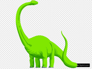 Green Colored Dinosaur