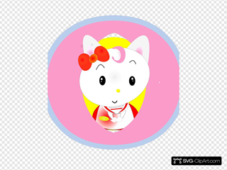 Hello Friend Cat Clipart