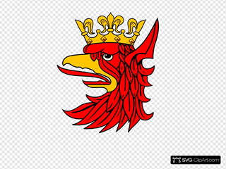 Bird With Crown SVG Clipart