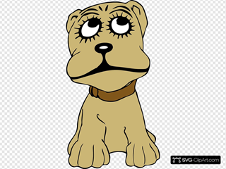 Cartoon Dog SVG Clipart