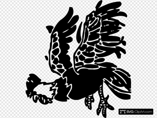 Leaping Rooster
