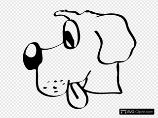 Dog Head 2 SVG Cliparts