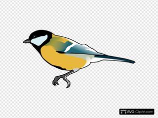 Yellow Bird SVG Clipart