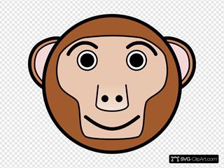 Circle Monkey Head