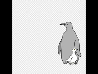 One Colored Penguins