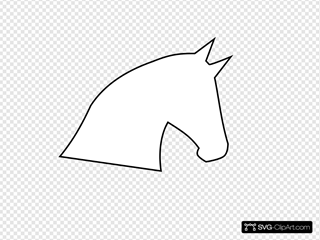 Horse Head Outline