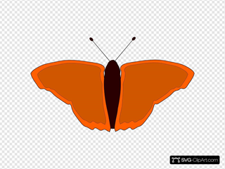 Orange Butterfly SVG Clipart