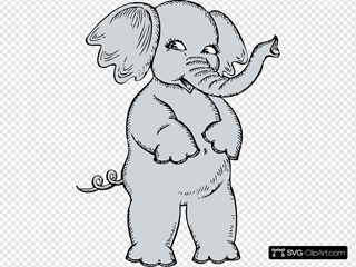 Girl Elephant SVG Clipart