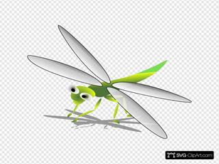 Cartoon Dragonfly