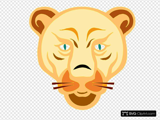 Lion Face Cartoon SVG icons