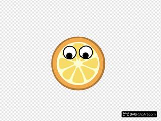 Orange - Eyes Centered Clipart