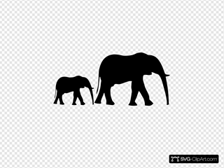 Mom Baby Elephant Silhouette Svg Vector Mom Baby Elephant Silhouette Clip Art Svg Clipart