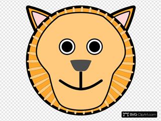 Circle Lion Head