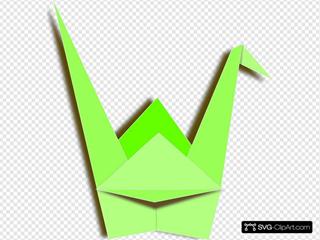 Green Paper Crane