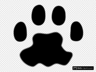 Fuzzy Cat Paw Print