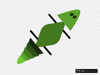 Gecko In Green SVG Clipart